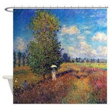 Monet Poppy Field In Summer Shower Curtain