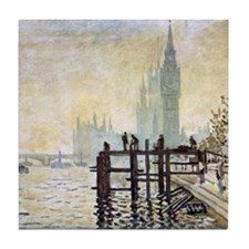 Claude Monet Westminster Bridge Tile Coaster