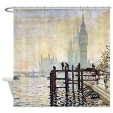Claude Monet Westminster Bridge Shower Curtain