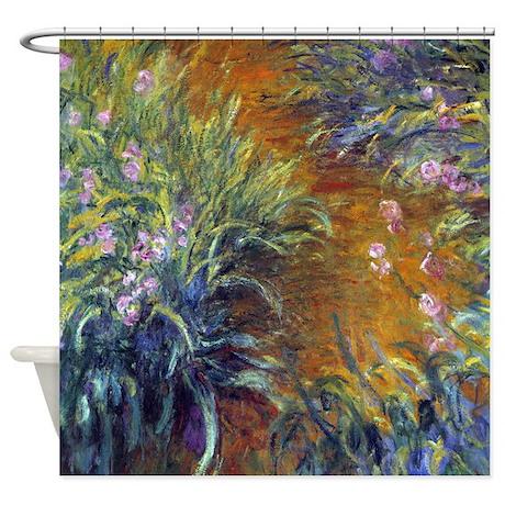 Claude Monet Irises Shower Curtain