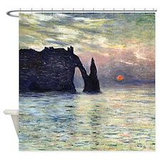 Claude Monet The Manneport Shower Curtain
