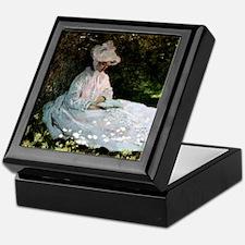 Claude Monet Woman Reading Keepsake Box