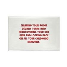 Cleaning Your Room Rectangle Magnet