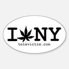 """""""I Weed NY"""" Oval Decal"""