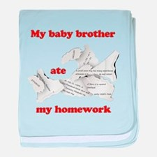 My baby brother ate my homework baby blanket