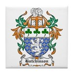 Hutchinson Coat of Arms Tile Coaster