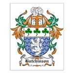 Hutchinson Coat of Arms Small Poster
