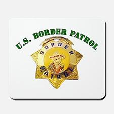 Border Patrol Badge Mousepad