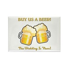 BUY US A BEER Rectangle Magnet