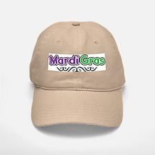 Mardi Gras Baseball Baseball Cap