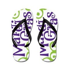 Mardi Gras Flip Flops
