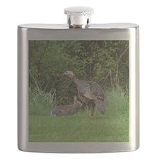 Turkey and Rabbit Flask