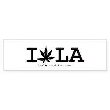 """""""I Weed LA"""" Bumper Bumper Sticker"""