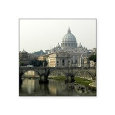 Vatican and Tiber River - Square.jpg Square Sticke