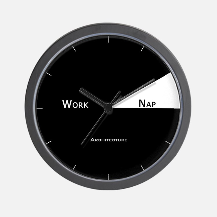 architecture wall clock architect office supplies
