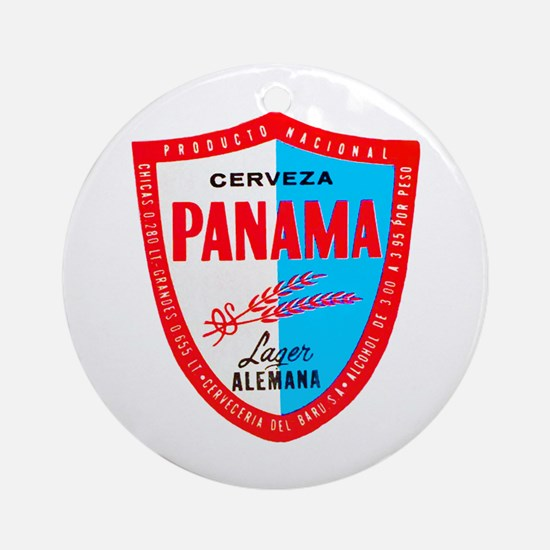 Panama Beer Label 1 Ornament (Round)