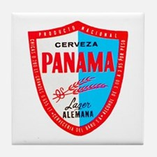Panama Beer Label 1 Tile Coaster