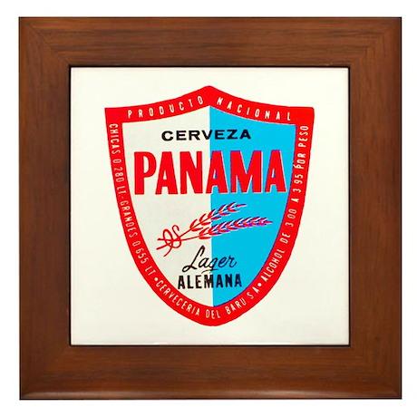 Panama Beer Label 1 Framed Tile