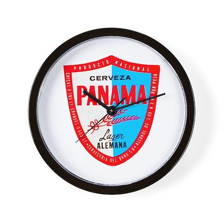 Panama Beer Label 1 Wall Clock