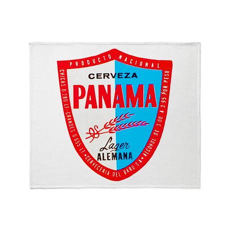 Panama Beer Label 1 Throw Blanket