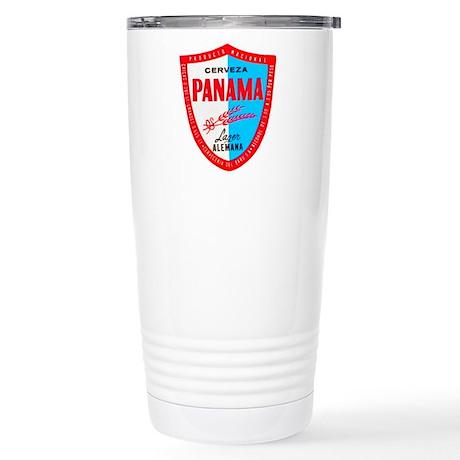 Panama Beer Label 1 Stainless Steel Travel Mug