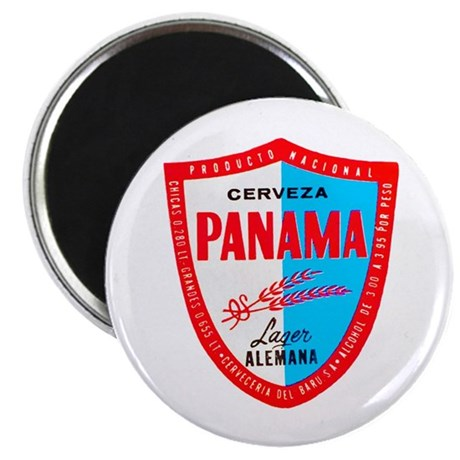 "Panama Beer Label 1 2.25"" Magnet (100 pack)"