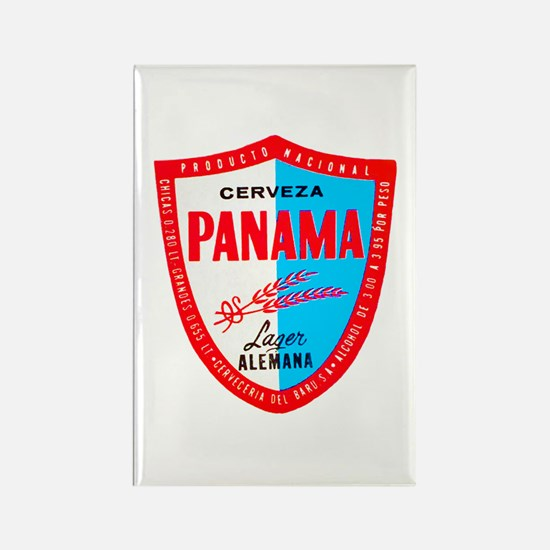 Panama Beer Label 1 Rectangle Magnet