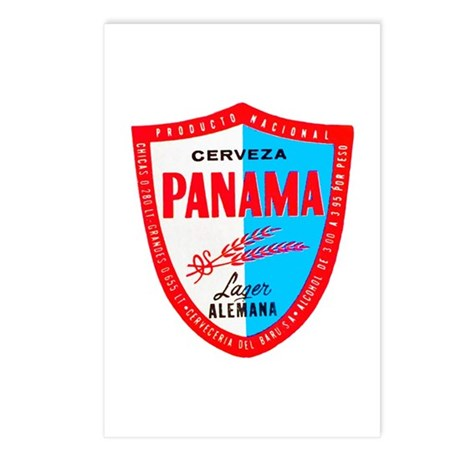 Panama Beer Label 1 Postcards (Package of 8)