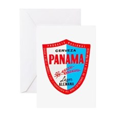 Panama Beer Label 1 Greeting Card