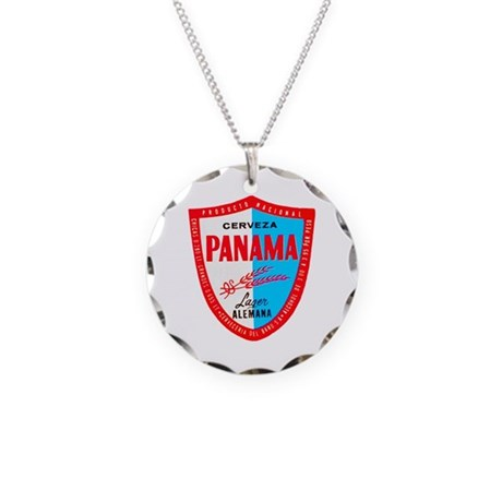 Panama Beer Label 1 Necklace Circle Charm