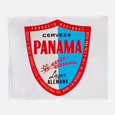 Panama Beer Label 1 Throw Blanket