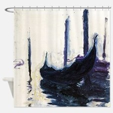Monet Gondola in Venice Shower Curtain