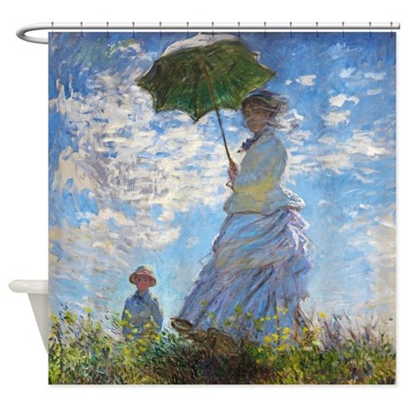 Monet Woman with a Parasol Shower Curtain