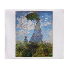 Monet Woman with a Parasol Throw Blanket