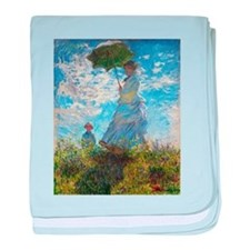 Monet Woman with a Parasol baby blanket