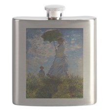 Monet Woman with a Parasol Flask