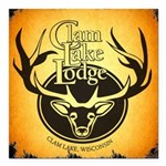 lodge logo Square Car Magnet 3