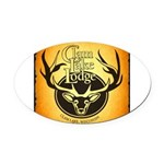 lodge logo Oval Car Magnet