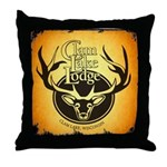 lodge logo Throw Pillow