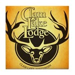 lodge logo Tile Coaster