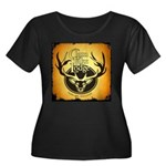 lodge logo Women's Plus Size Scoop Neck Dark T-Shi
