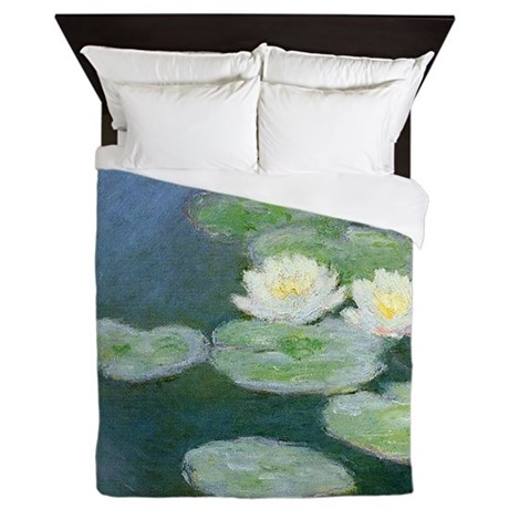 Claude Monet Water Lilies Queen Duvet