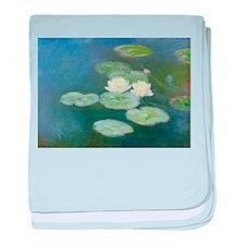 Claude Monet Water Lilies baby blanket