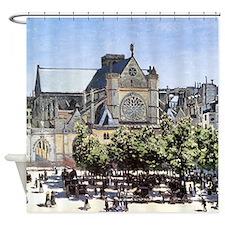 Monet Saint-Germain l'Auxerrois Shower Curtain