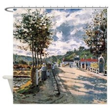 Monet The Seine at Bougival Shower Curtain