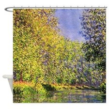 Claude Monet A bend of the Epte Shower Curtain