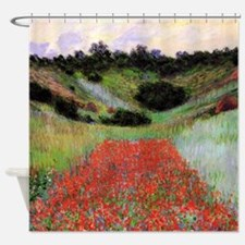 Claude Monet Poppy Field Shower Curtain