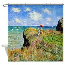 Claude Monet Clifftop Walk Shower Curtain