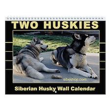 """Two Huskies"" Wall Calendar"
