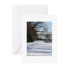 Lincoln memorial winter scene Greeting Cards (Pk o